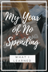 My Year of No Spending
