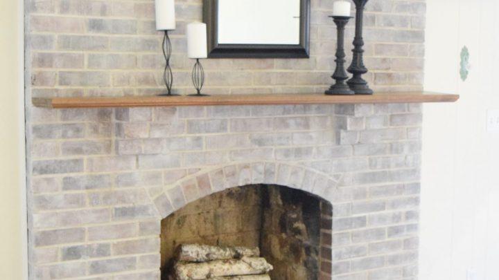 How To Whitewash A Fireplace Love, Whitewashing Brick Fireplace
