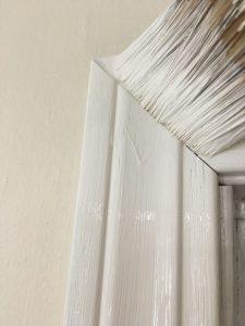 DIY Kitchen Remodel - Paint the Trim