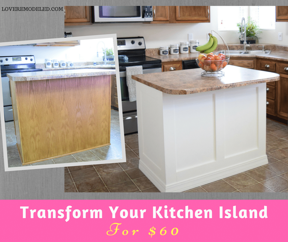 How To Add Moulding To A Kitchen Island Love Remodeled