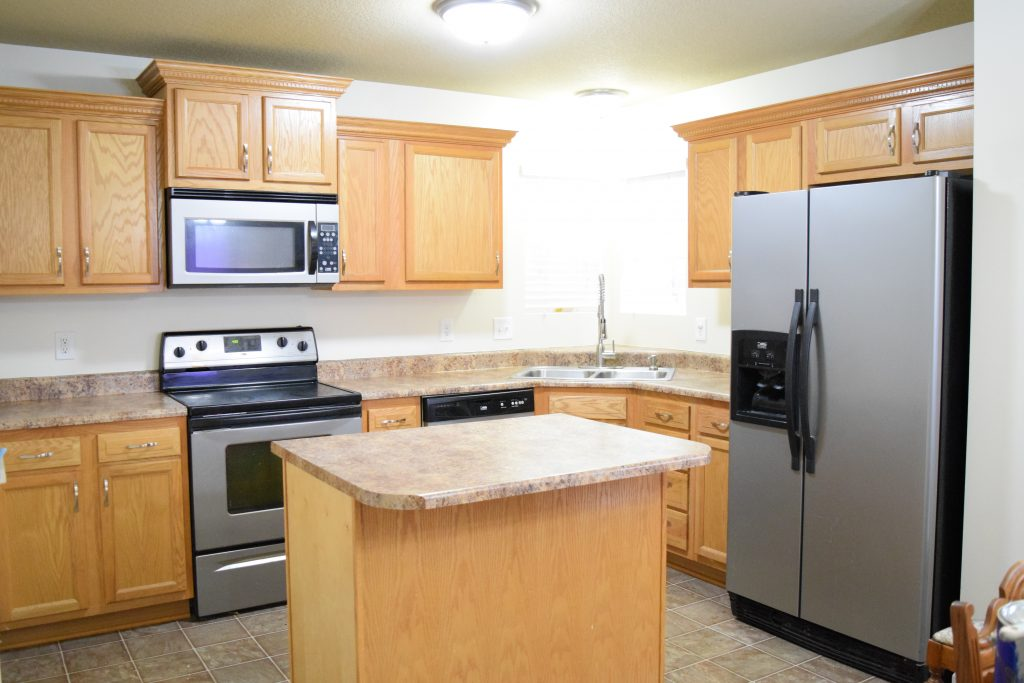 Swell Wall Colors For Honey Oak Cabinets Love Remodeled Home Remodeling Inspirations Cosmcuboardxyz