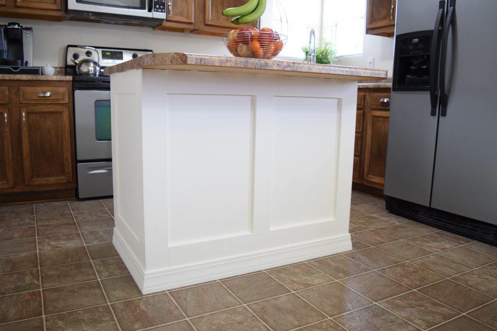 DIY Kitchen Remodel - Add Trim to the Kitchen Island
