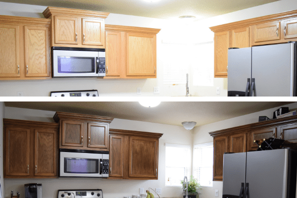 Using PolyShades to Refinish Your Kitchen Cabinets