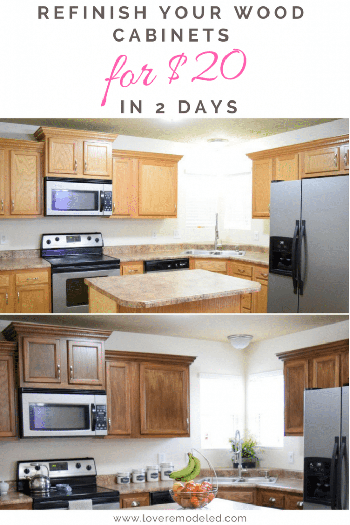 How To Refinish Wood Cabinets The Easy Way Love Remodeled