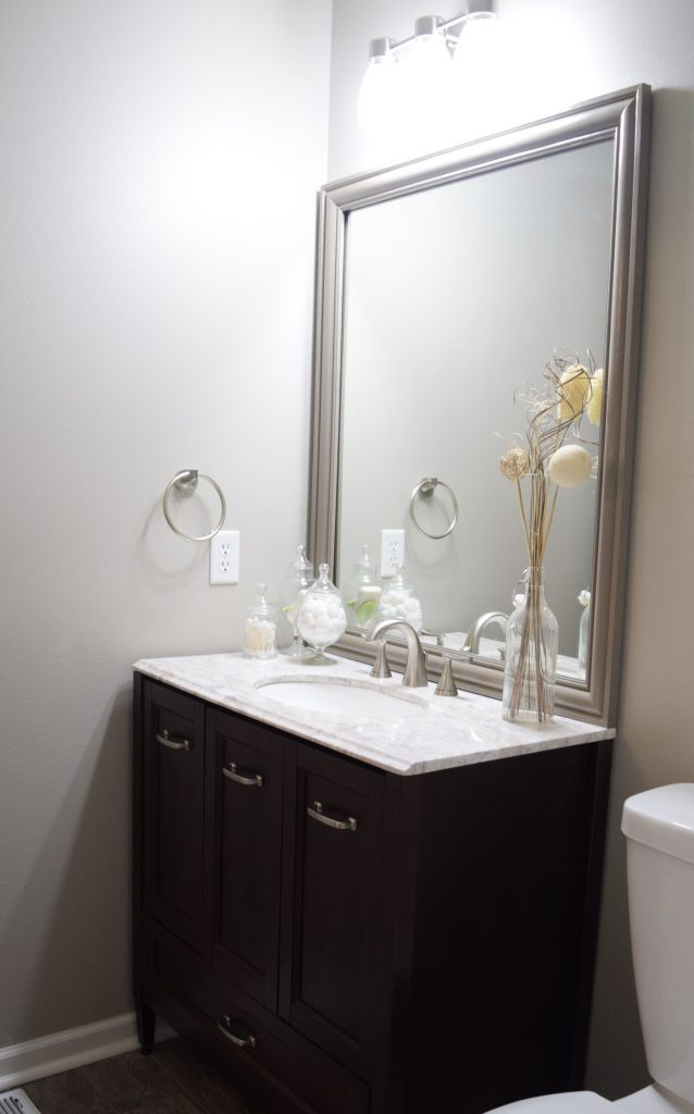 Frame A Builder Grade Mirror Completed Picture