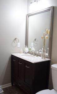 Frame A Builder Grade Mirror before and after