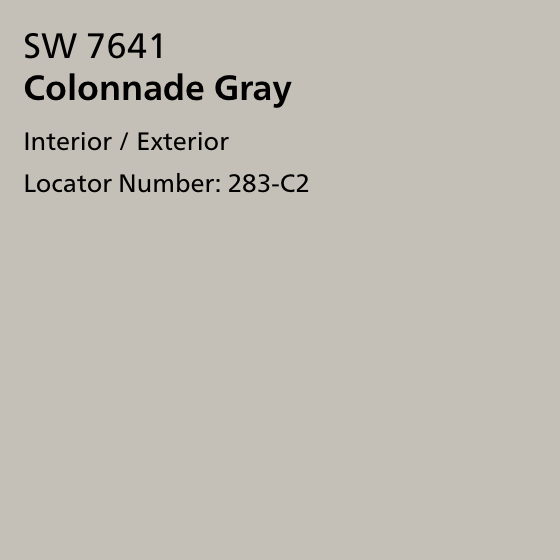 Colonnade Gray - a whole house paint scheme in neutrals