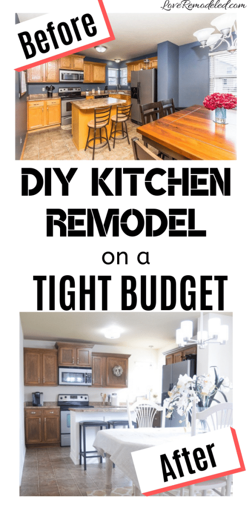 DIY Kitchen Remodel - Love Remodeled