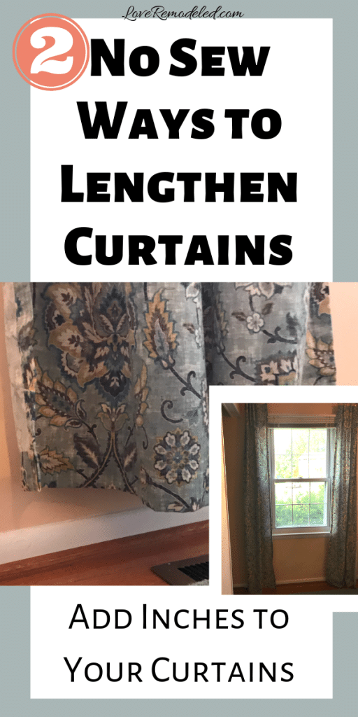 Lengthen Your Short Curtains