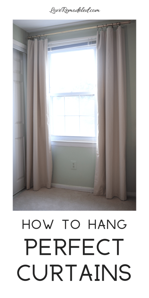 How To Hang Curtains Perfectly Every Time
