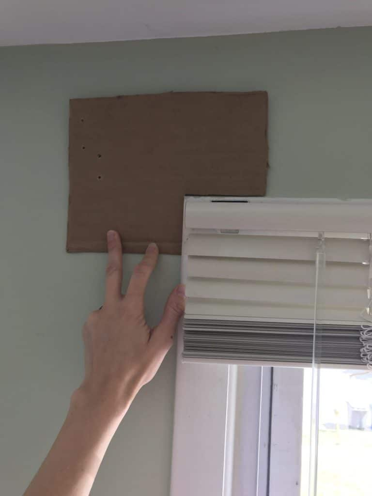 Make a Template to Hang Your Curtain Rods
