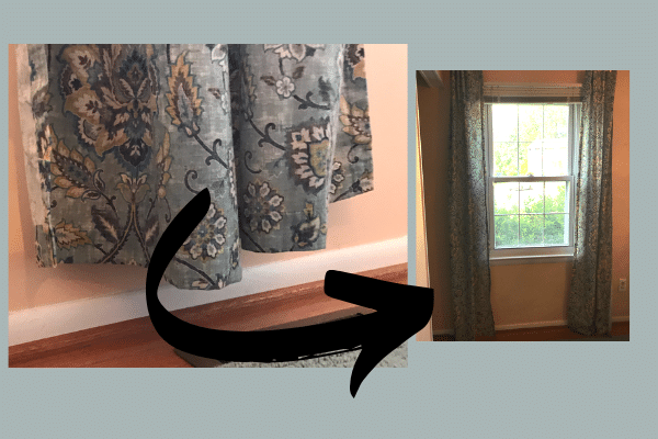 Curtains Too Short?  2 Easy Ways to Lengthen Curtains