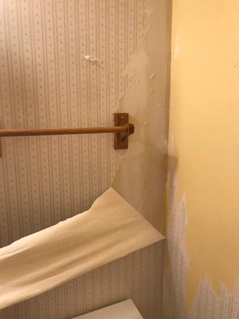 Removing Wallpaper In One Big Sheet