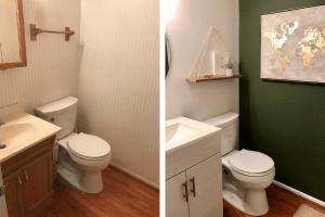 Boho Bathroom Reveal – A Modern Bathroom on a Budget