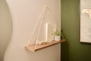 DIY Hanging Shelf with Rope