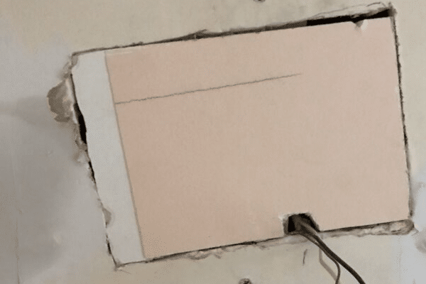 Using A Pumpkin Patch For A Hole In Drywall