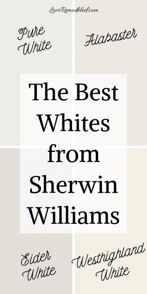 Sherwin Williams White Paint