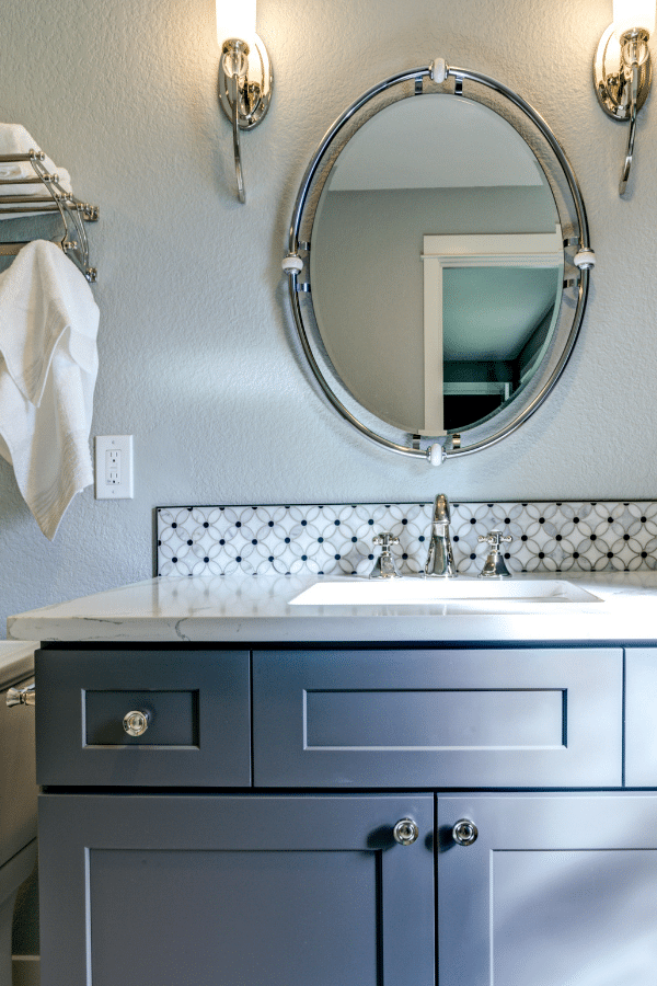 How To Paint A Bathroom Vanity Love, What Is The Best Sherwin Williams Paint For Bathroom Cabinets