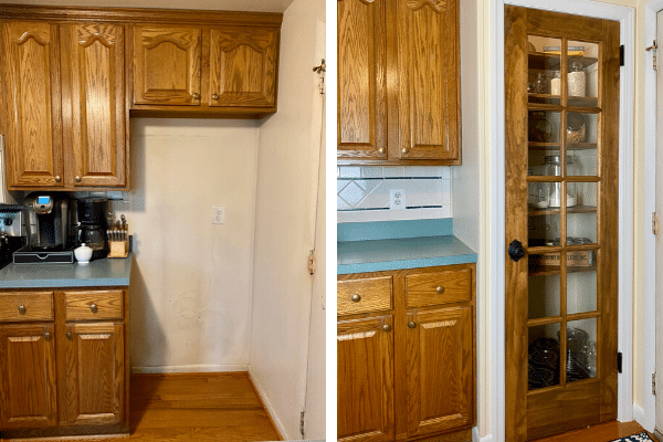 DIY Kitchen Pantry Before and After