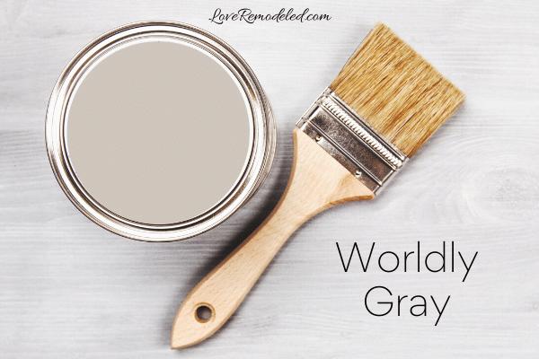 Sherwin Williams Worldly Gray