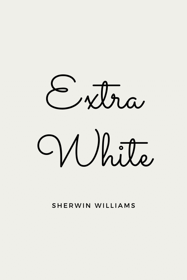 Extra White is a perfect cool white for trim.