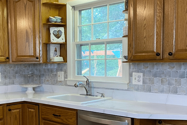 Peel and Stick Backsplash Tile are a Quick Kitchen Update.