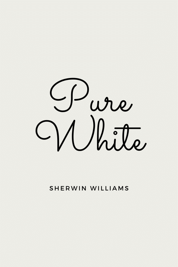 Pure White is a great warm white for trim.