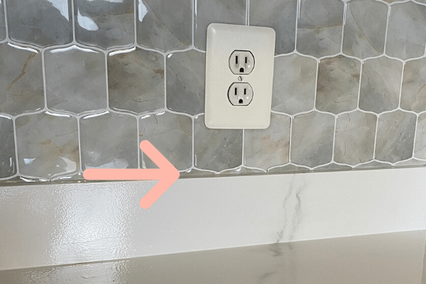 Step 1 - plan the pattern of your peel and stick backsplash