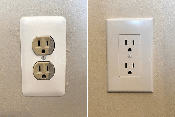 how to change outlets from beige to white