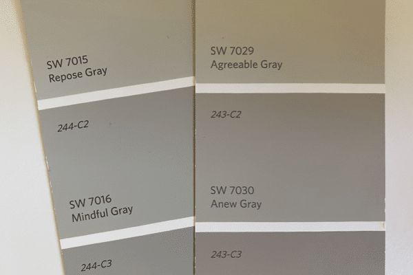 Anew Gray Compared to Mindful Gray