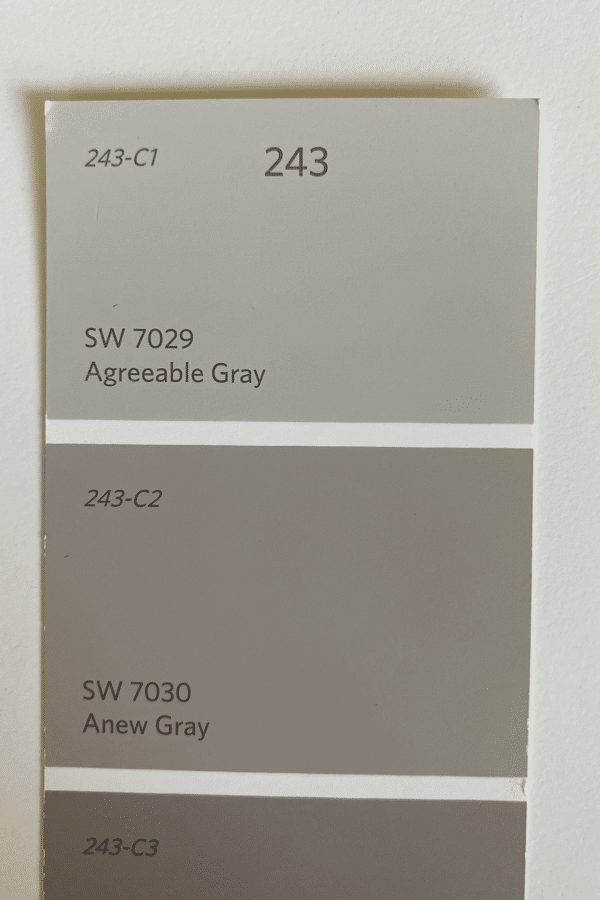 Anew Gray Compared to Agreeable Gray