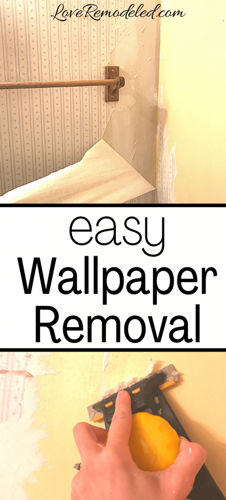 How To Remove Wallpaper from Drywall - Love Remodeled
