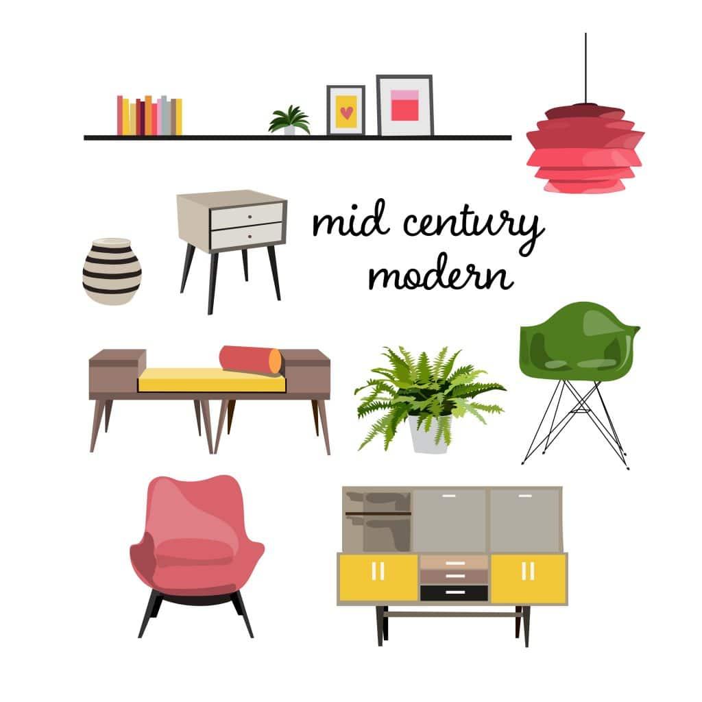 Mid-Century Modern Living Room Furniture