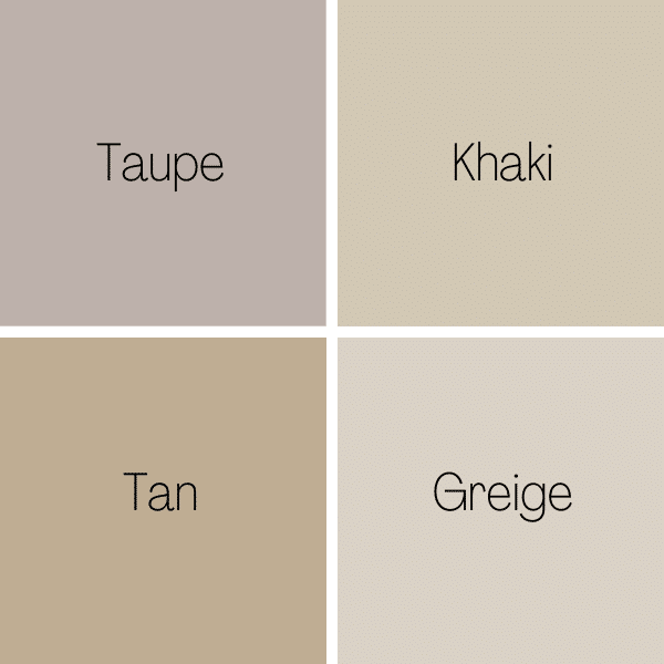 Types of Beige Colors Compared