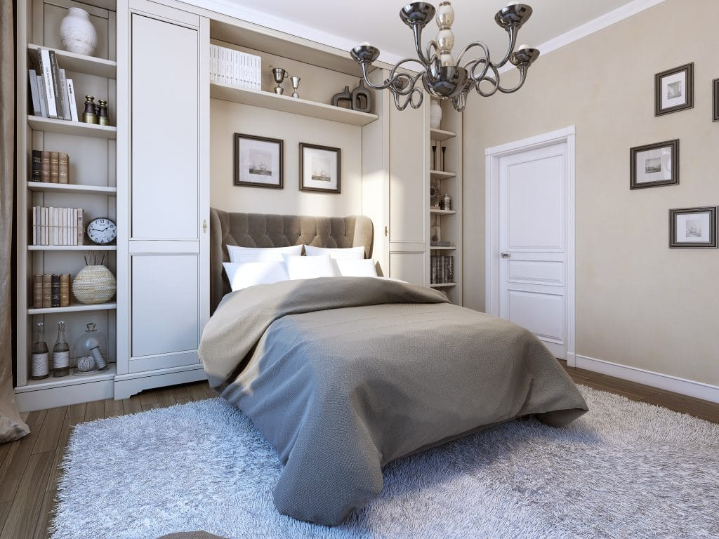Classic Style Room with Beige Paint
