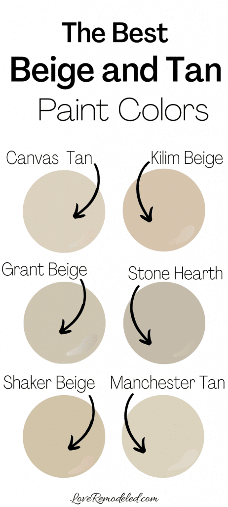 The Best Beige and Tan Paint Colors