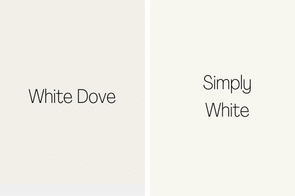 White Dove vs. Simply White