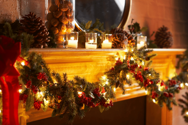 Nature Inspired decor for the Mantle