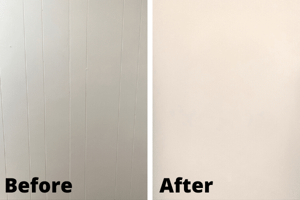 How to Make Wood Paneling Look Like Drywall