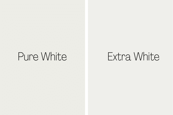 Pure White vs. Extra White