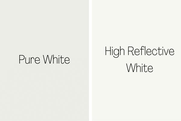 Pure White vs. High Reflective White