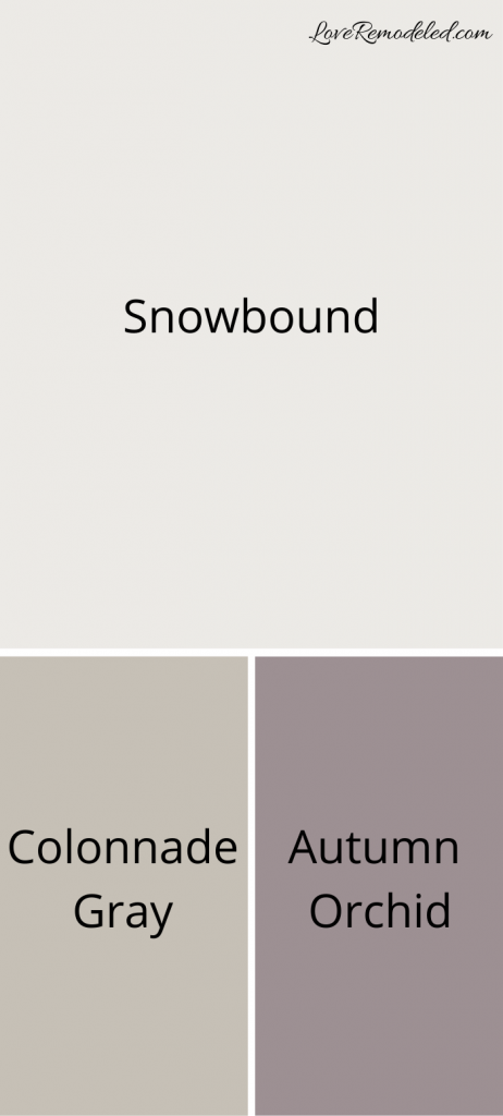 Colors that go with Snowbound