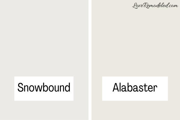 Snowbound Compared to Alabaster
