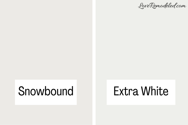 Snowbound compared to Extra White