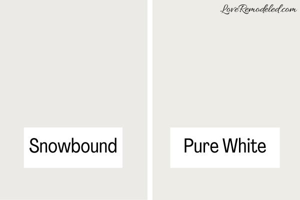 Snowbound compared to Pure White
