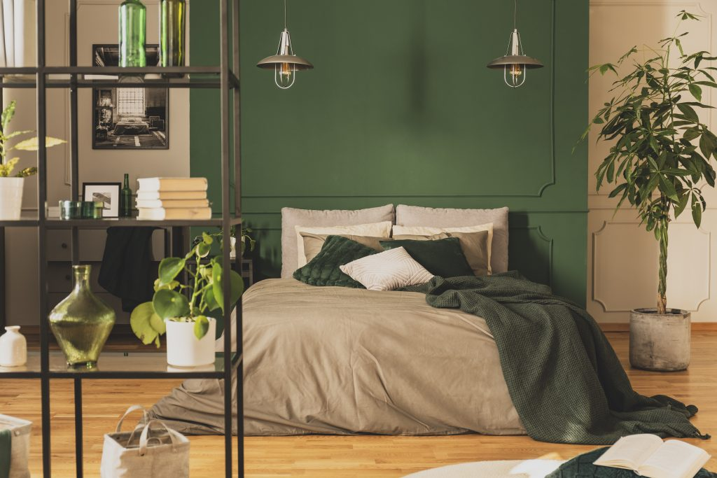 Best Green Paint Colors - Green Bedroom Wall