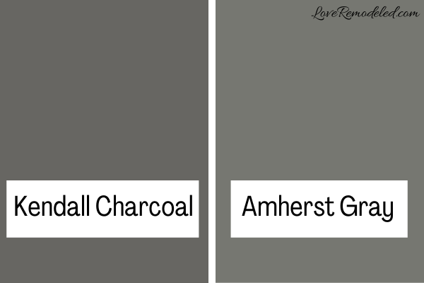 Kendall Charcoal vs. Amherst Gray