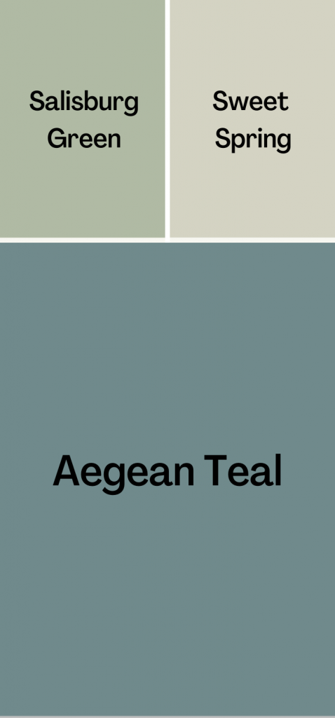 Aegean Teal Coordinating Colors - Muted Look