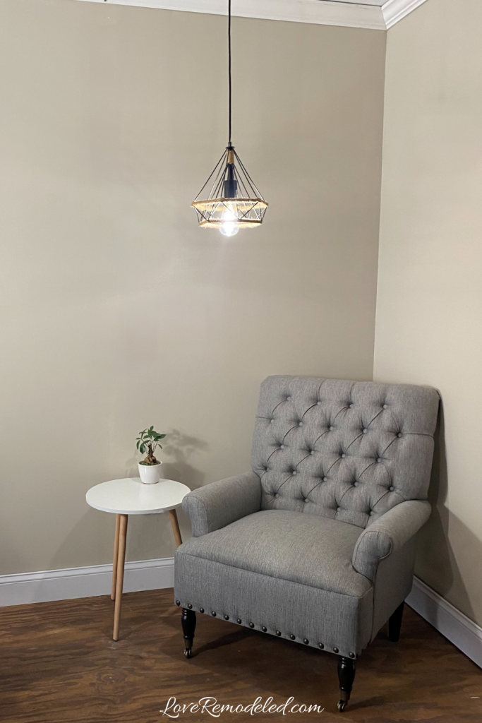 Accessible Beige, Sherwin Williams, in a living room setting