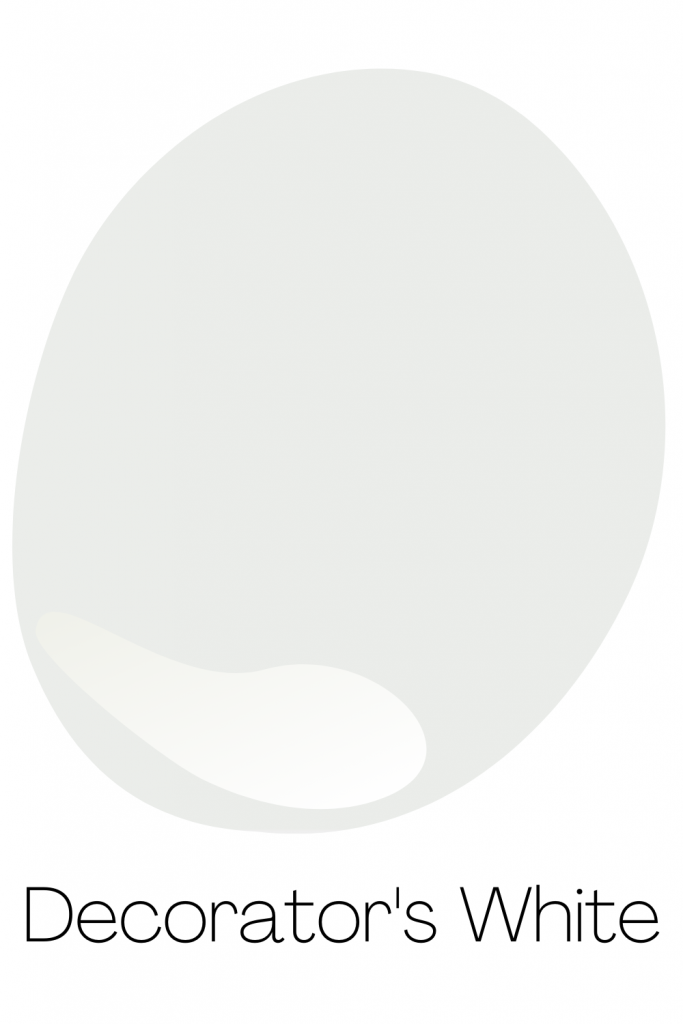 Decorator's White - Best Cool White Paint Color from Benjamin Moore